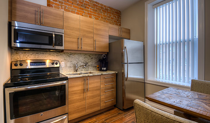 premium one bedroom kitchen