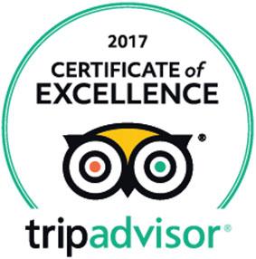 TripAdvisor Excellence Award 2017